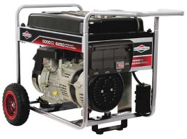 BRIGGS & STRATTON Portable Generator 5000 Rated W