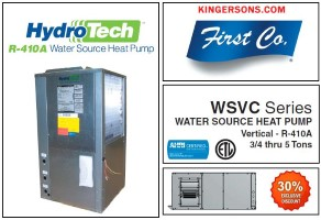 5.0 Ton 13.3 EER Water Source Heat Pump First Co Hydro-Tech WSVC060C2RH Similar to Mcquay Geothermal
