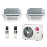 LG LMU246HV LMCN125HV (TWO) Dual Zone Ceiling Cassette Mini Split