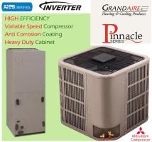 GRANDAIRE WCH848604MKA1 WATPM604A1 5 Ton PINNACLE SEER 18 Heat Pump Mitsubishi Compressor
