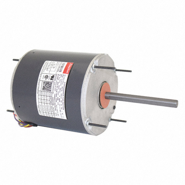 DAYTON 1/2 to DAYTON 1/5 HP Condenser Fan Motor,Permanent Split Capacitor,825 Nameplate RPM,460 Voltage,Frame 48YZ