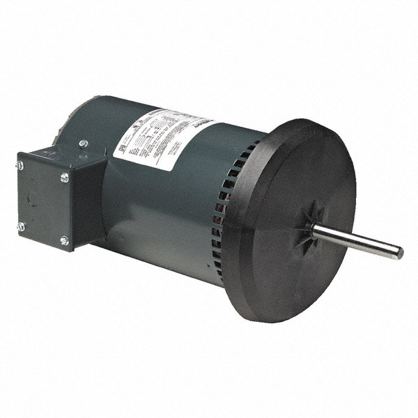 1-MARATHON MOTORS 1/MARATHON MOTORS 2 HP Condenser Fan Motor,Permanent Split Capacitor,1075 Nameplate RPM,208-230/460 Voltage,Frame