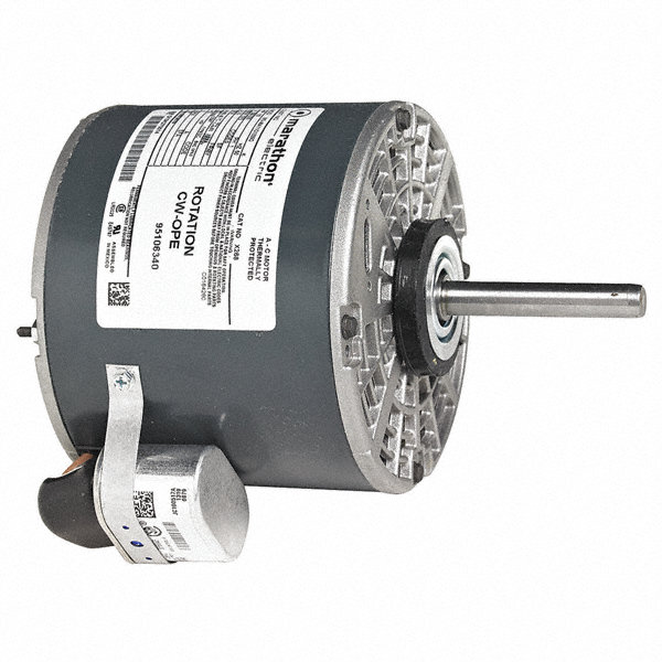 MARATHON MOTORS 1/3 HP Direct Drive Blower Motor, Permanent Split Capacitor, 1075 Nameplate RPM, 208-230 Voltage