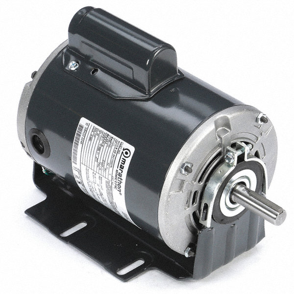 MARATHON MOTORS 1/MARATHON MOTORS 2 HP Direct Drive Motor, Permanent Split Capacitor, 1075 Nameplate RPM, 208-230/460 Voltage