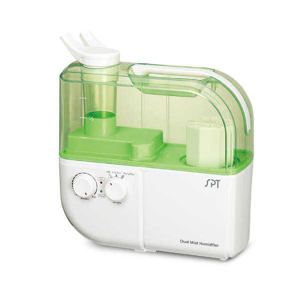 SPT SU-4010G Dual-Mist Warm/Cool Ultrasonic Humidifier with ION Exchange Filter