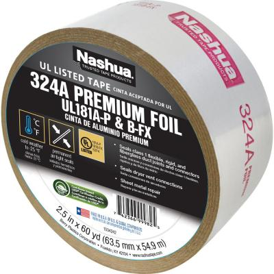2-1/2 in. x 60 yd. 324 Amp Premium Foil UL Listed HVAC Tape