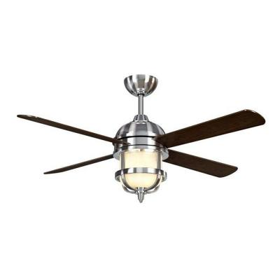 Senze 52 in. Brushed Nickel Ceiling Fan