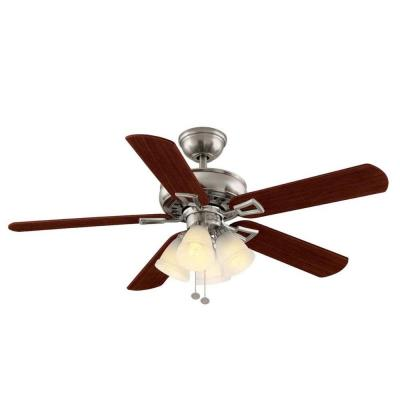 Lyndhurst 52 in. Indoor Brushed Nickel Ceiling Fan
