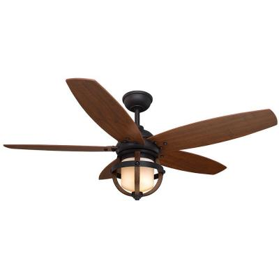 Noah 52 in. Forged Iron Ceiling Fan