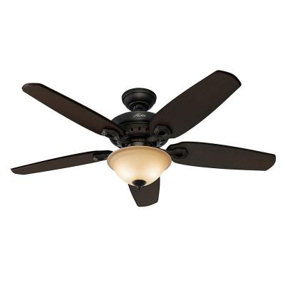 Fairhaven 52 in. Basque Black Indoor Ceiling Fan