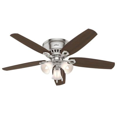 Builder Low Profile 52 in. Indoor Brushed Nickel Ceiling Fan
