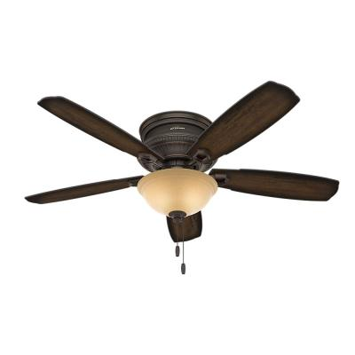 Ambrose 52 in. Indoor Onyx Bengal Low Profile Ceiling Fan