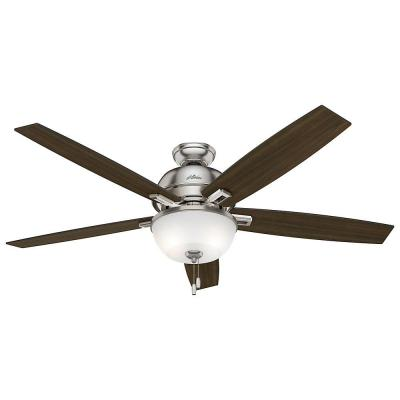 Donegan 60 in. LED Indoor Brushed Nickel Ceiling Fan