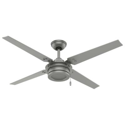 Gunnar 54 in. Outdoor Matte Silver Ceiling Fan