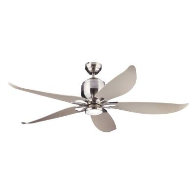 Lily 56 in. Brushed Steel Ceiling Fan