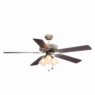 Vintage 52 in. Brushed Nickel Ceiling Fan