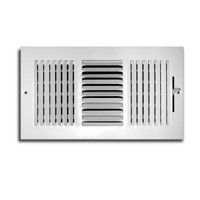 12 in. x 6 in. 3 Way Wall/Ceiling Register