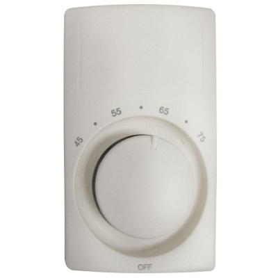 M600 Series White Bimetal Double-Pole 22-Amp Wall Thermostat