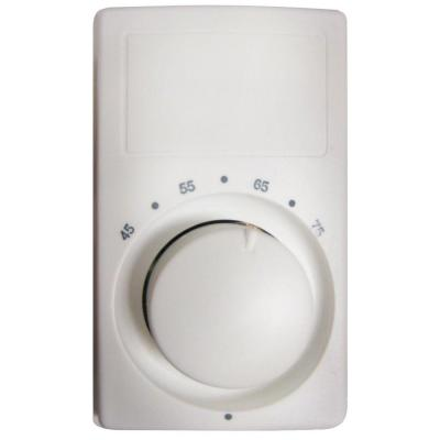M600 Series Anticipating White Bimetal Single-Pole 22 Amp Wall Thermostat