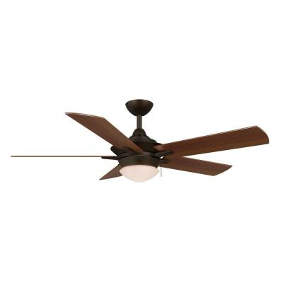 Edgemont 52 in. LED Indoor Espresso Bronze Ceiling Fan