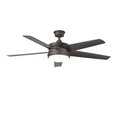 Portwood 60 in. LED Indoor/Outdoor Espresso Bronze Ceiling Fan